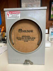 Milbank U4175-RL-BLG 1 Phase Ringless Meter Socket 4 Jaw 1 Position 100 Amp 600V
