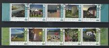 ISLE OF MAN 2018 YEAR OF OUR ISLAND FINE USED SET OF 10 IN 2 STRIPS