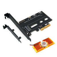 M.2 NVME PCIE SSD To PCI-E 3.0x 4X Adapter Card Express w/Cooling Fan & Bracket
