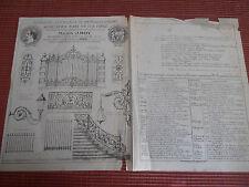 CATALOGUE - PUB SERRURERIE D'ART EN FER FORGE MAISON J ROY ANNÉE 1881 ( ref 28 )