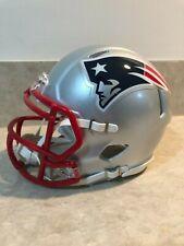 New England Patriots Mini Football Helmet Chrome Alternate Speed Riddell NFL