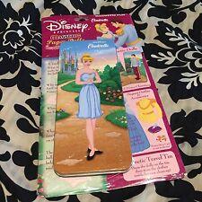 Disney Princess Cinderella Magnetic Dress Up Paper Dolls Travel Tin Collectors