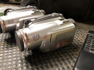 2x Pair of Panasonic PV-GS85 Mini DV Camcorder's