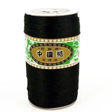 250 YD ROLL BLACK SILKY 2MM RATTAIL JEWELLERY CORD SHAMBALLA KUMIHIMO