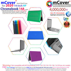 """mCover Hard Case for 2020 14"""" HP Chromebook 14a-XXXX series Laptop Computers"""