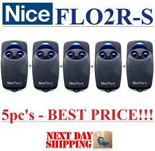 5 X Nice FLO2R-S télécommandes 2 canaux 433,92 MHz, Rolling code 433,92MHz!!!