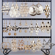12Pairs Drop Dangle Earrings Wholesale Mixed Lots Gold Plated Fashion Jewelry
