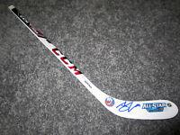 JOHN TAVARES New York Islanders SIGNED Auto Mini Hockey Stick w/ COA All-Star