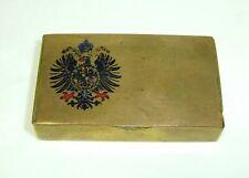 Seltene Streichholzdose mit Wappen Österreich Wien 1900 Bronze