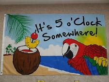 "3' X 5' JIMMY BUFFETT ""IT'S 5 O'CLOCK SOMEWHERE"" FLAG 3X5"