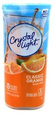 12 10-Quart Canisters Crystal Light Classic Orange Drink Mix