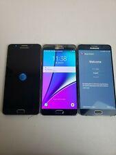 Lot Of Three! Samsung Galaxy Note5 -Sm-N920A/V - 32Gb - Unlocked Smartphones