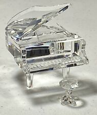 New ListingSwarovski Crystal Grand Piano And Stool 7477 Retired Stunning!