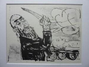 """OTTO DIX - Original Lithographie 1960 """"Abraham und Isaac"""" !"""