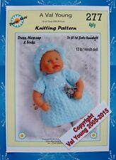 1 DOLLS KNITTING PATTERN to fit 1st Baby Annabell 13 /14 inch Doll 277 Daisy-May