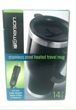 Emerson 14 Oz Stainless Steel Heated Plug-in 12 Volt Travel Mug. New In Box.