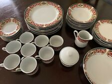 Gibson Windsor Pattern Dinnerware Set for 8, plus Serving Pieces