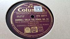 CARROLL GIBBONS CARROLL CALL THE TUNES  NO 22 COLUMBIA FB2877