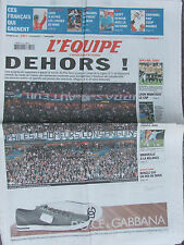 L'Equipe du 31/3/2008 - PSG-Lens : la banderole insultante - Chavanel - Loeb