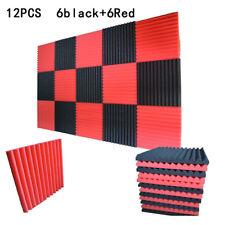 12X noir + Rouge acoustique CALE STUDIO INSONORISATION Mousse carreaux muraux