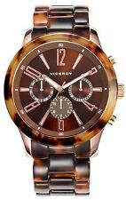 NEW Viceroy 46806-45 Mens Visept12 Round Plastic Leopard Print Day Date Watch