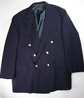 Ralph Lauren Polo University Club Navy Blue Virgin Wool Jacket Size 44