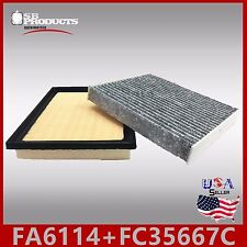 FA6114 FC35667C(CARBON) ENGINE & CABIN AIR FILTER ~ 16-17 RAV4 H & 10-16 PRIUS