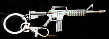 AR-15 Assault Rifle KEYCHAIN PENDANT PIN UP US ARMY MARINES NAVY AIR FORCE VET