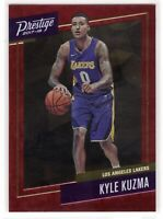 2017-18 Panini Prestige Kyle Kuzma SP Red Micro Etch Rookie RC #26 Lakers