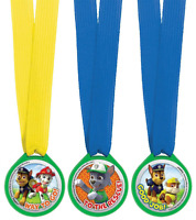 12 Paw Patrol Puppy Pets Children's Birthday Party Award Medals - by AMSCAN
