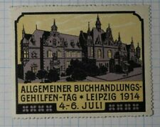 General Bookstore Aids Leipzig 1914 Exposition Poster Stamps Ads