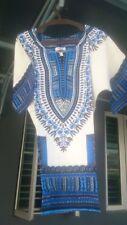 Women Men's African Prints Dress Dashiki Shirt Tops Caftan Hippie T-shirt