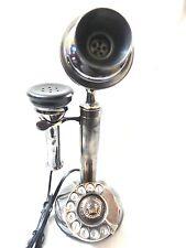ANTIQUE / VINTAGE LOOK COPPER COLOR BRASS CANDLESTICK TELEPHONE