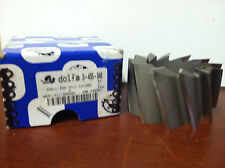 "Dolfa #5-455-040 3"" x 1-1/4"" x 1-3/4"" 12F Hss Lh 20° Helix Shell End Mill"