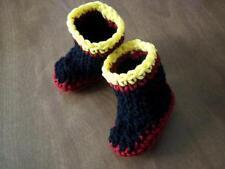 FIREMAN BOOTS! Crochet baby 4 inch newborn to 6 months BOOTIES Photo Prop USA!