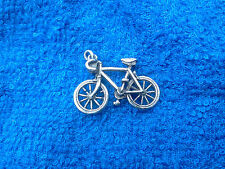 FINISH LINE 6 Racing 3D BICYCLE Pewter Tibetan Charms or Pendant ALL NEW.