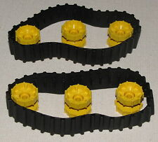 LEGO BLACK TECHNIC TANK TREAD TRACK MINDSTORMS PARTS AND YELLOW HUBS