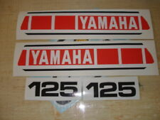 1980 YAMAHA YZ125 EURO MODEL TANK & SIDE PANEL DECALS