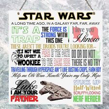 Star Wars Movie Quotes Film Plaque Birthday Gift Present Plaque Sign Wall House