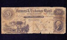USA  20 dollars 1854  Farmers & Echange Bank, Charleston