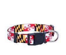Maryland Flag Large Dog Collar