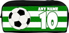 PERSONALISED GREEN STRIPES FOOTBALL NAME NUMBER RUGBY SPORTS SCHOOL CLUB BOOTBAG