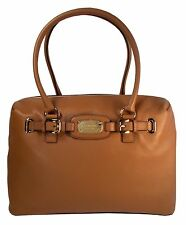 Michael Kors Hamilton LG Laptop Weekender Leather Tote Duffle NWT $448 Luggage
