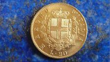 20 Lire Or / Gold  1877 R Regno D'Italia V.E. II 3x fautée 77 sur 77  L sur L R3