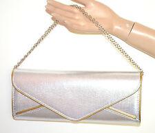 POCHETTE ARGENTO ORO  donna dorata borsello borsa elegante bag sac bolsa A44