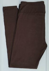 TC LuLaRoe Tall & Curvy Leggings Solid Deep Taupe Dark Brown Rare ! NWT 28