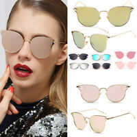 Gold Retro Cat Eye Sunglasses Classic Oversized Shades Vintage fashion Women's