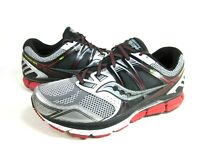 SAUCONY MEN'S REDEEMER ISO ROAD RUNNING SHOES,SILVER/BLACK,US SIZE 9 EXTRA WIDE