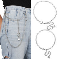 CM Pants KeyChain Punk Choker PadLock Pendant Necklace Wallet Chain Belt