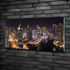 Glas-Bild Wandbilder Druck auf Glas 100x50 Sehenswürdigkeiten Marina in Dubai